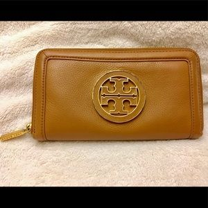 Tory Burch Tan Leather Wallet
